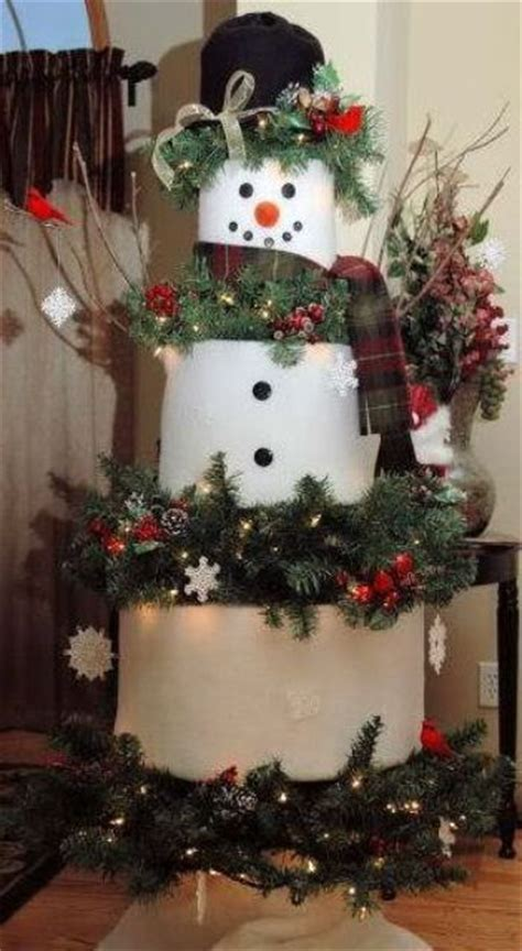christmas tree decorated with snowmen 29 snowman decorations for your home digsdigs