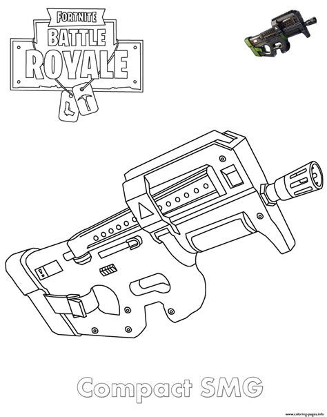 smg fortnite coloring pages printable