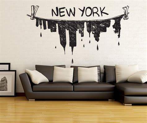 vinyl wall decal sticker  york city clothes hanger