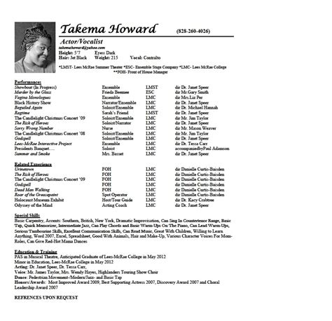 5 resume cv template for openoffice free and resume