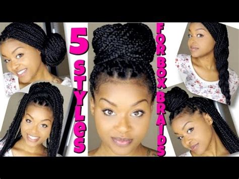 styles  box braids quick easy youtube