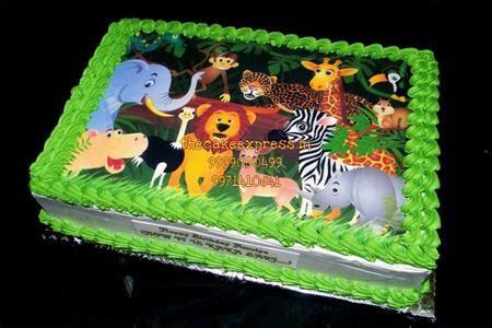 jungle theme birthday cake  kids   noida kids