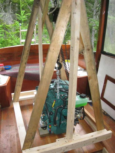 How To Build A Boat Engine Hoist by How To Build A Boat Engine Hoist Marcels