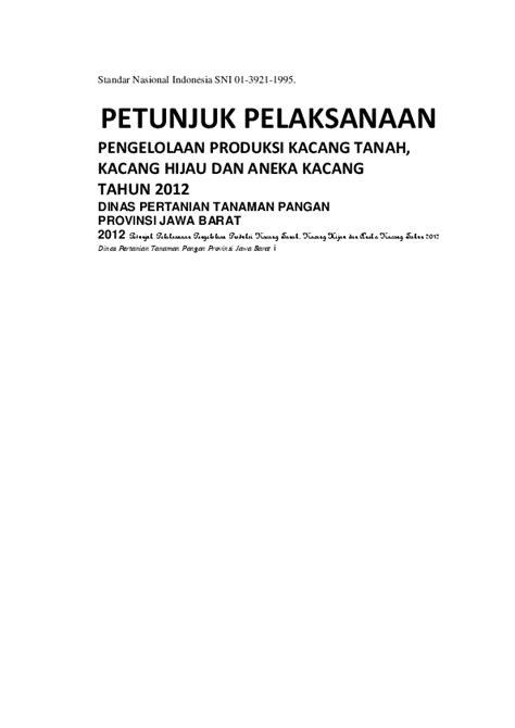 (DOC) Standar Nasional Indonesia SNI 01-3921-1995