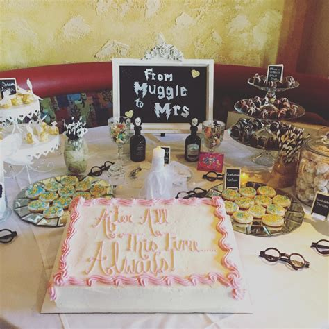 Harry Potter Bridal Shower Ideas a harry potter themed bridal shower small towns city