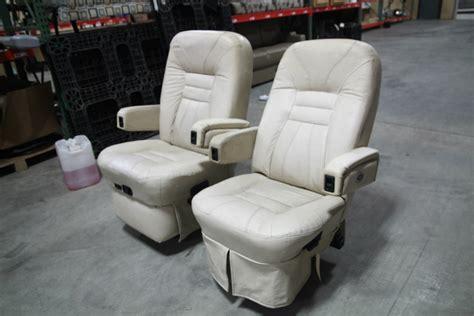 rv captains chairs flexsteel rv furniture used rv motorhome flexsteel vanilla leather