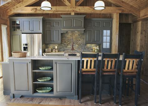 rustic grey kitchen cabinets elmwood custom cabinetry rustic kitchen other 4977
