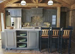 elmwood fine custom cabinetry rustic kitchen other With kitchen cabinets lowes with mountain canvas wall art