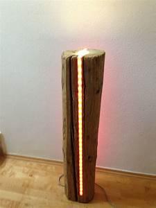 Baumstamm An Decke Befestigen : deko led lampe aus sehr altem holz lichts ule mit ~ Lizthompson.info Haus und Dekorationen