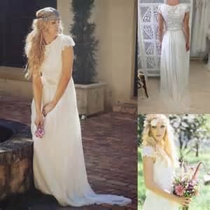 garden wedding dresses modest bohemian backless boho bridal dresses sleeve garden wedding gowns cheap