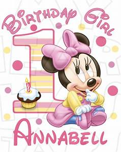 Baby Minnie Mouse 1st Birthday Girl Personalized ANY name ...