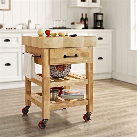 kitchen island cart butcher block crosley marston kitchen cart with butcher block 8150