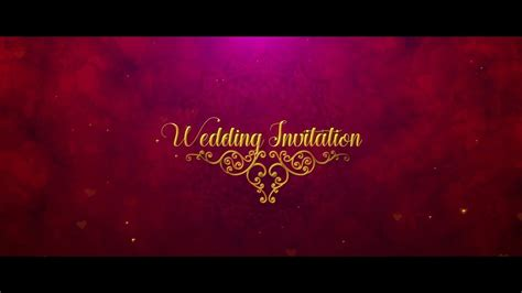 cute indian wedding invitation  effects template