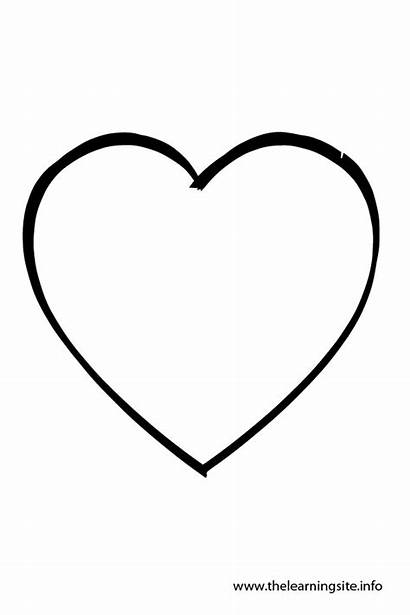 Heart Shape Outline Coloring Clip Shapes Clipart