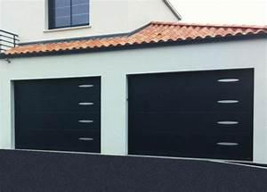 porte de garage sectionnelle plafond aludoor xooz 60mm With porte de garage sectionnelle avec serrurier 91