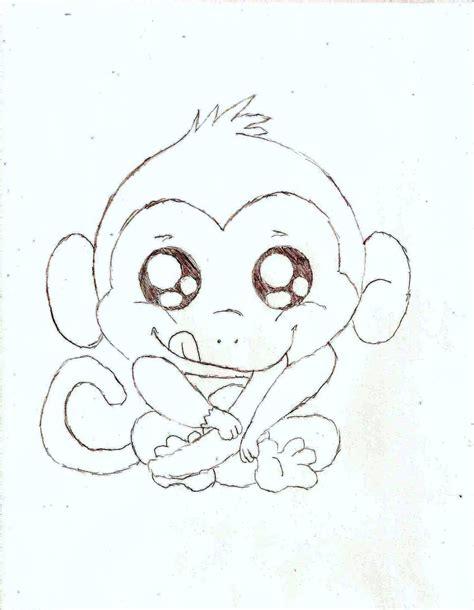 baby monkey pencil sketch monkey drawings