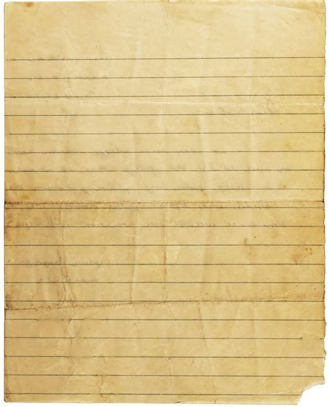 Old Lined Paper Template