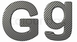 carbon fiber font g lowercase and capital letters stock With carbon fiber letters