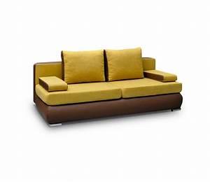 Kunstleder Sofa Mit Schlaffunktion : couch mit schlaffunktion sofa schlafsofa gelb kunstleder klappsofa madagaskar ebay ~ Bigdaddyawards.com Haus und Dekorationen