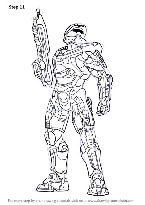 learn   draw master chief  halo halo step  step drawing tutorials