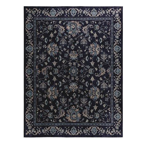 indigo area rug home decorators collection jackson indigo 10 ft x 12 ft