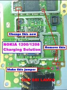 Nokia 1200 Charging Problem Solution Diagram