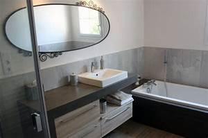 Beton Hydrofuge Pour Salle De Bain : du b ton cir platinum pour le meuble et la baignoire ~ Edinachiropracticcenter.com Idées de Décoration