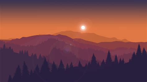 sunset minimal landscape  wallpapers hd wallpapers
