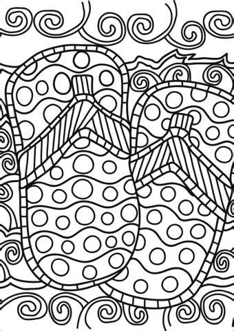 pop art flip flops coloring page  printable coloring