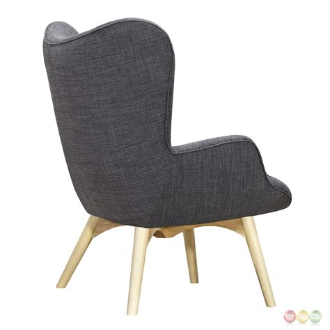 aiden mid century modern grey fabric chair ottoman
