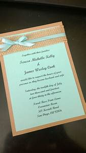 Beach themed aqua blue kraft brown and burlap wedding for Wedding invitations idaho falls