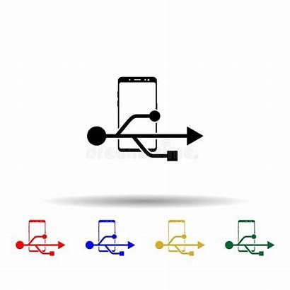Smartphone Multi Icon Mobile Ux Glyph Ui