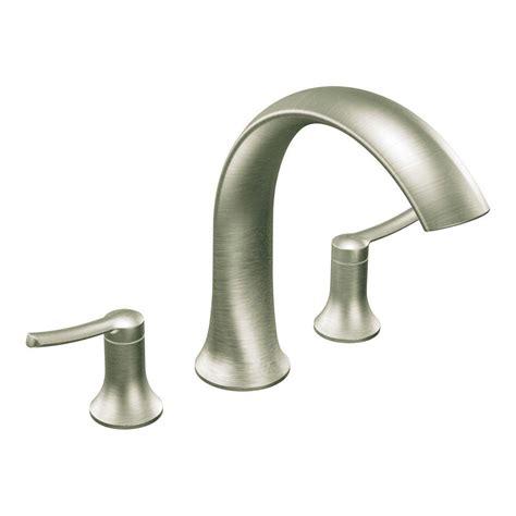 moen fina 2 handle deck mount roman tub faucet trim kit in