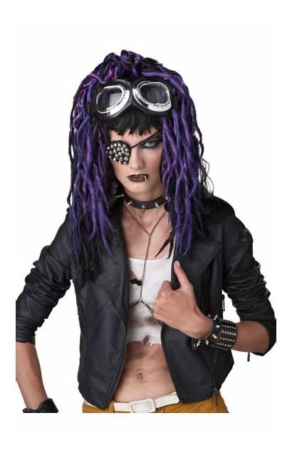 Apocalypse Dreads Purple Wig Costumes Fancy Dread
