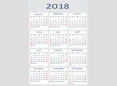 Vector calendar for 2018 — Stock Vector © mitay20 #14526345