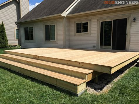 how to build a patio how to build a floating deck 187 rogue engineer