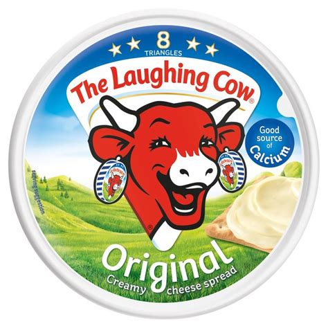 laughing cow cheese the laughing cow cheese triangles 8 per pack 140g from ocado