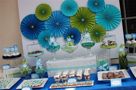 Baby Shower Blue And Green Decorations - meet the prince baby shower themes baby