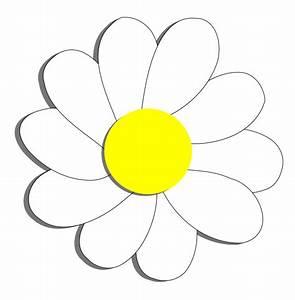Daisy Clipart Cartoon - Pencil And In Color Daisy Clipart ...