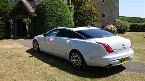 white jaguar xj autobiography  wedding hire  kent
