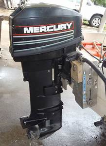 25 Hp Mercury Outboard Boat Long Shaft Remote Model