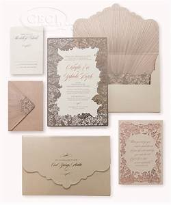 V201 our muse blush and pewter wedding kayla hudi for Rose gold beach wedding invitations