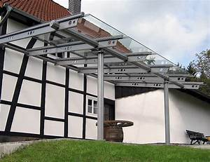 Uberdachungen mit glas wie terrassenuberdachungen minden for Aluprofile terrassenüberdachung