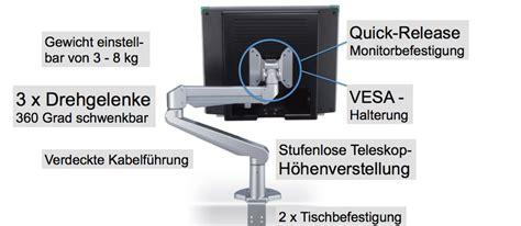 monitorarm bildschirmschwenkarm zur befestigung
