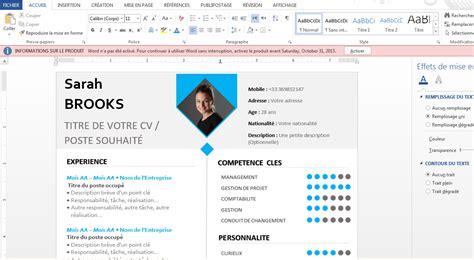 Modele Cv 2016 Word by Docx Un Mod 233 Le De Cv Word 2016 Stagepfe