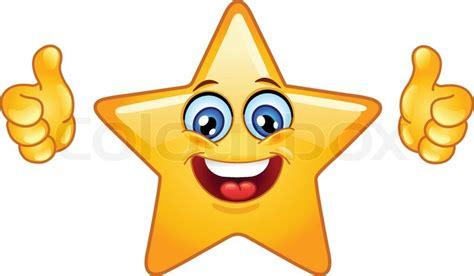 Smiling Sterne Zeigt Daumen Nach Oben