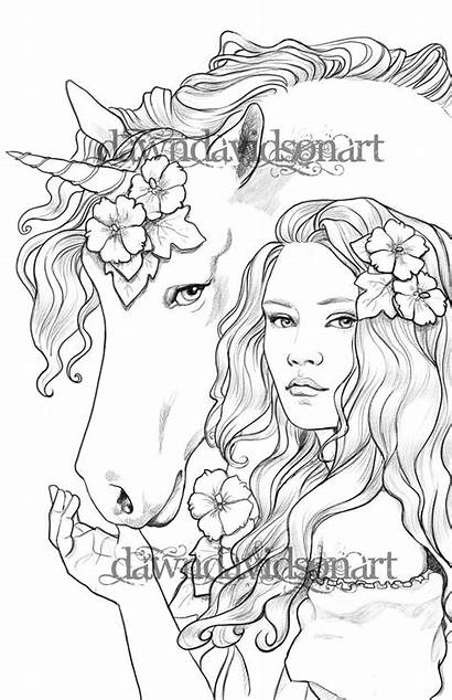 Coloring Pages Adults Friends Unicorn Colouring Books