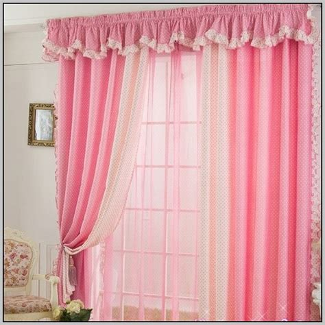 pink and white polka dot curtains curtain