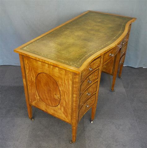 antique writing desks uk antique edwardian satinwood kneehole writing desk