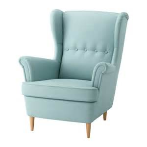 strandmon wing chair skiftebo light turquoise ikea